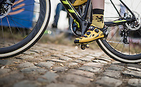 Flemish lion socks up the Koppenberg cobbles<br /> <br /> 25th Koppenbergcross 2016