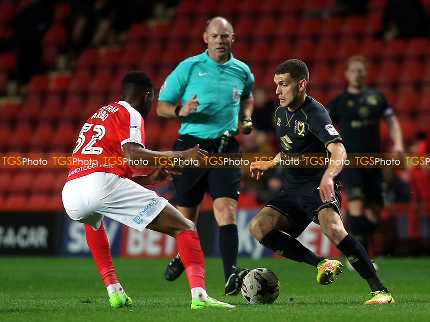 Stuart O'Keefe of MK Dons in action during Charlton Athletic vs MK Dons, Sky Bet EFL League 1 Football at The Valley on 4th April 2017