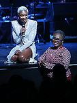 Cynthia Erivo with her Mom performing in The 2nd Annual Night Divine Holiday Concert at the Apollo Theatre on December 16, 2019 in New York City.
