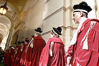 Magistrati si preparano per la cerimonia di inaugurazione dell'Anno Giudiziario presso la Corte di Cassazione a Roma, 30 gennaio 2009..Magistrates prepare for the inauguration of the Judicial Year at the Court of Cassation in Rome, 30 january 2009..UPDATE IMAGES PRESS/Riccardo De Luca