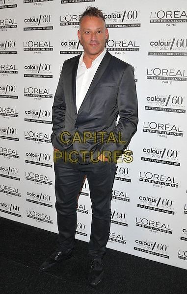 LONDON, ENGLAND - JUNE 01: Toby Anstis attends the L'Oreal Colour Trophy Grand Final Awards 2015, Battersea Evolution, Battersea Park, on Monday June 01, 2015 in London, England, UK. <br /> CAP/CAN<br /> &copy;Can Nguyen/Capital Pictures