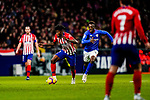 Thomas Teye Partey of Atletico de Madrid (L) is followed by Inaki Williams Arthuer of Athletic de Bilbao during the La Liga 2018-19 match between Atletico de Madrid and Athletic de Bilbao at Wanda Metropolitano, on November 10 2018 in Madrid, Spain. Photo by Diego Gouto / Power Sport Images