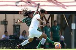 20 September 2015: Campbell's Ish Rodriguez (30) and Stetson's John Bentham (behind). The Campbell University Camels hosted the Stetson University Hatters at Eakes Athletics Complex in Buies Creek, NC in a 2015 NCAA Division I Men's Soccer game. Campbell won the game 1-0.