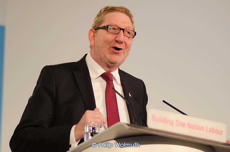 Len McCluskey, Unite.  Labour Party Special Conference on reform of its links to trade unions, ExCel Centre, London.