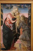 Europe/France/Corse/2A/Corse-du-Sud/Ajaccio: Vierge à l'enfant soutenue par un ange, Sandro Boticelli (1445-1510) au Musée Fesch