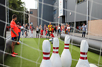 20190829 - LEUVEN , BELGIUM : Belgian fan villagepictured before the female soccer game between the Belgian Red Flames and England , The Lionesses , a friendly womensoccer game in the preparation for the European Championship qualification round in group H for England 2021, Tuesday 29 th August 2019 at the King Power Stadion Den Dreef in Leuven , Belgium. PHOTO SPORTPIX.BE | SEVIL OKTEM