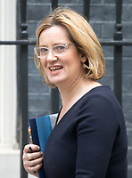 Home Secretary Amber Rudd arrives for the cabinet meeting at 10 Downing street