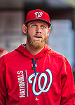 29 July 2017: Washington Nationals pitcher Stephen Strasburg walks the dugout prior to a game against the Colorado Rockies at Nationals Park in Washington, DC. The Rockies defeated the Nationals 4-2 in the first game of their 3-game weekend series. Mandatory Credit: Ed Wolfstein Photo *** RAW (NEF) Image File Available ***