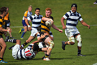 Tom Florence in action during the rugby match between Taranaki and Auckland Development in the Jock Hobbs Memorial Under-19 Rugby Tournament at Owen Delaney Park in Taupo, New Zealand on Wednesday, 13 September 2012. Photo: Dave Lintott / lintottphoto.co.nz
