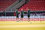 Davy Klaassen (Werder Bremen #30), Niclas Füllkrug / Fuellkrug (Werder Bremen #11), #Sebastian Langkamp (Werder Bremen #15), vor dem Spiel im Stadion<br /> <br /> <br /> Sport: nphgm001: Fussball: 1. Bundesliga: Saison 19/20: Relegation 02; 1.FC Heidenheim vs SV Werder Bremen - 06.07.2020<br /> <br /> Foto: gumzmedia/nordphoto/POOL <br /> <br /> DFL regulations prohibit any use of photographs as image sequences and/or quasi-video.<br /> EDITORIAL USE ONLY<br /> National and international News-Agencies OUT.