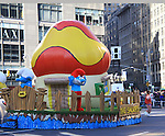 Smurf float at the 86th Annual Macy's Thanksgiving Day Parade on November 22, 2012 in New York City, New York. (Photo by Sue Coflin/Max Photos)