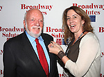 Hal Prince & Laura Penn attending the 'Broadway Salutes' honoring those who make Broadway Great at the Timers Square Visitors Center in Times Square,  New York City on 9/20/2012.