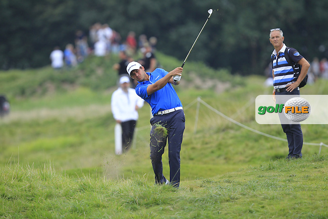 Chris Hanson (ENG) on the 5th during Round 4 of the 2016 KLM Open at the Dutch Golf Club at Spijk in The Netherlands on  Sunday 11/09/16.<br /> Picture: Thos Caffrey | Golffile