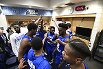 MILWAUKEE, WI - MARCH 16:  Middle Tennessee Blue Raiders huddle up in the locker room during the 2017 NCAA Men's Basketball Tournament held at BMO Harris Bradley Center on March 16, 2017 in Milwaukee, Wisconsin. (Photo by Jamie Schwaberow/NCAA Photos via Getty Images)