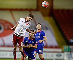 Chris Basham of Sheffield Utd wins the ball - FA Cup Second round - Sheffield Utd vs Oldham Athletic - Bramall Lane Stadium - Sheffield - England - 5th December 2015 - Picture Simon Bellis/Sportimage