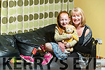 Kayla McGaley at home with their mother Deirdre in Castleisland.