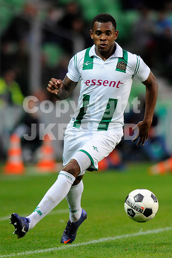 GRONINGEN - Voetbal, FC Groningen -  De Graafschap, Eredivisie, stadion Euroborg, seizoen 2011-2012, 27-04-2012 FC Groningen speler Leandro Bacuna.