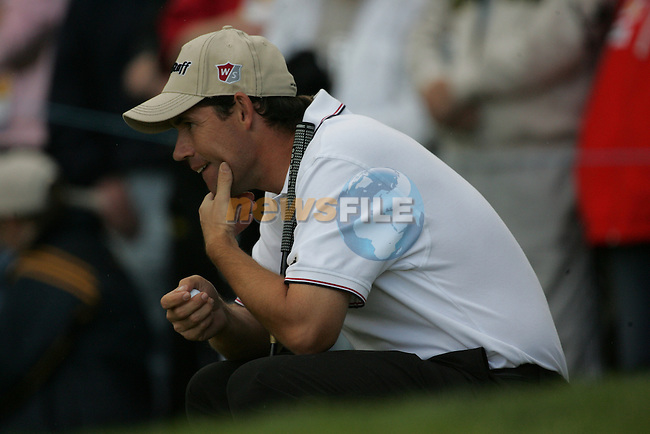 Padraig Harringtonlines up his putt on the 1st hole during the final round of the Irish Open on 20th of May 2007 at the Adare Manor Hotel & Golf Resort, Co. Limerick, Ireland. (Photo by Eoin Clarke/NEWSFILE)..