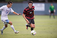 STANFORD, CA - August 19, 2014: Stanford midfielder Austin Meyer (17) during the Stanford vs CSU Bakersfield men's soccer match in Stanford, California. Final score, Stanford 1, CSU Bakersfield 0.