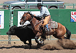 Dave Thacker competes in the Ranch Horse Class at the Minden Ranch Rodeo on Saturday, July 21, 2012..Photo by Cathleen Allison