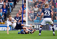 Bolton Wanderers' Mark Beevers is fouled by Millwall's Steve Morison<br /> <br /> Photographer Ashley Western/CameraSport<br /> <br /> The EFL Sky Bet Championship - Millwall v Bolton Wanderers - Saturday August 12th 2017 - The Den - London<br /> <br /> World Copyright &not;&copy; 2017 CameraSport. All rights reserved. 43 Linden Ave. Countesthorpe. Leicester. England. LE8 5PG - Tel: +44 (0) 116 277 4147 - admin@camerasport.com - www.camerasport.com