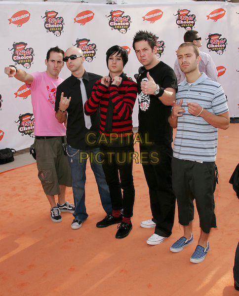 SIMPLE PLAN.Attends Nickelodeon's 18th Annual Kids' Choice Awards Show held at UCLA's Pauley Pavilion in Westwood, California, April 2nd 2005..full length.Ref: DVS.www.capitalpictures.com.sales@capitalpictures.com.©DVS/Capital Pictures