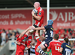 Paul OConnell of Munster collects the line out ball to set up a drop goal attempt - European Rugby Champions Cup - Sale Sharks vs Munster -  AJ Bell Stadium - Salford- England - 18th October 2014  - Picture Simon Bellis/Sportimage