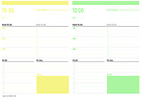 TODO day planner<br /> Include 2 days plan<br /> for printing at A4 paper size <br /> Can be printed at home