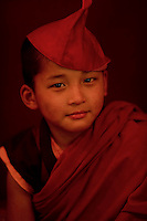 A moment in the life of a little Buddhist Monk<br /> , Sikkim, India