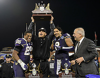 San Francisco, California - Friday, Dec. 27, 2013: The University of Washington defeated BYU 31-16 at the 2013 Fight Hunger Bowl at AT&T Park.