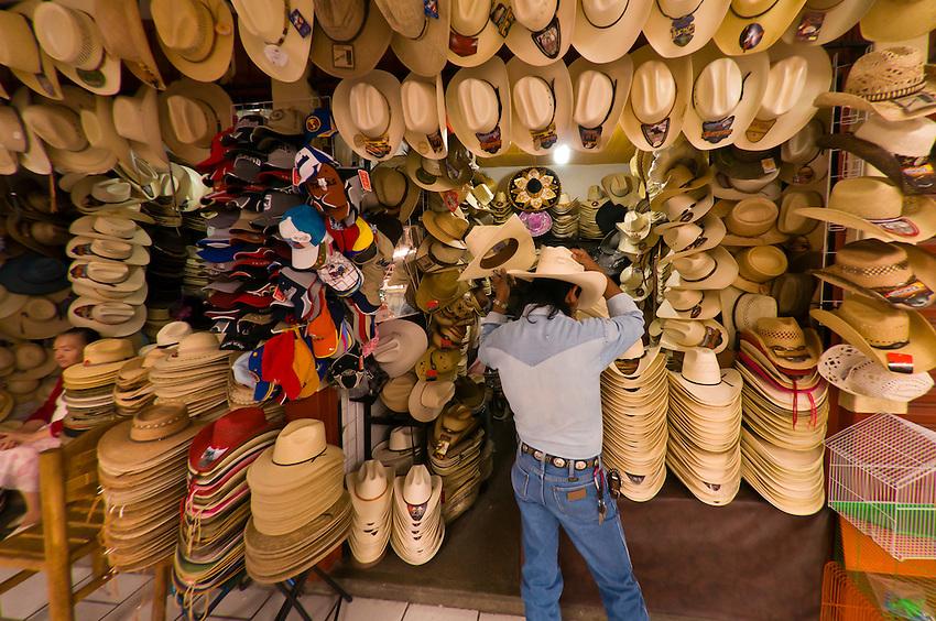 Cowboy hats, Craft Market (Mercado de Artesanias),  San Miguel de Allende, Mexico