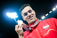 Picture by Alex Whitehead/SWpix.com - 09/04/2018 - Commonwealth Games - Swimming - Optus Aquatics Centre, Gold Coast, Australia - James Guy of England wins Silver in the Men's 100m Butterfly final.