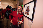 Martín Vargas and his photographer during the opening of the Mission San Antonio de Padua Portfolio Workshop exhibition at the National Steinbeck Center Museum.