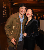 LOS ANGELES - FEBRUARY 27: In honor of Fresh Off the Boat's 100th episode cast members Randall Park and Constance Wu celebrated with an elaborate cake-cutting and champagne toast on Stage 88 on the Fox Lot on Wednesday afternoon. (Photo by Frank Micelotta/TCFTV/PictureGroup)