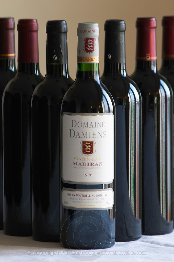 Bottle of Domaine Damiens Cuvee St Jean Andre and Pierre Michel Beheity Madiran France