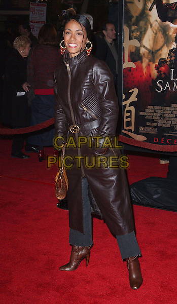 JADA PINKETT SMITH.attends the Warner Brother's The Last Samurai U.S. Premiere held at The Mann Village Theater in Westwood . .01/12/2003.full length, full-length, long leather coat, boots.www.capitalpictures.com.sales@capitalpictures.com.©Capital Pictures.