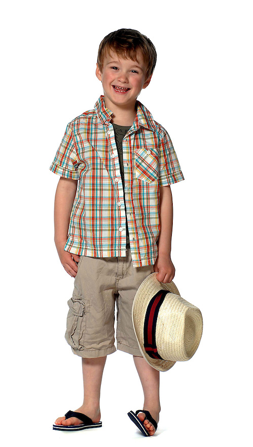 Seven Days Fathers Day fashion with models James Devlin and son Oliver.....Outfit1.Victoria Stewart.19 Glasgow Street,.GLASGOW,.G12 8JW.07770408170