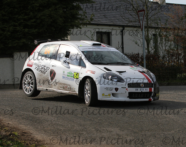 David Laird - Rebecca Laird in an Abarth Punto S2000 at Junction 13 on Special Stage 11 Bulls Brook on the Discover Northern Ireland Circuit of Ireland Rally which was a constituent round of  the FIA European Rally Championship, the FIA Junior European Rally Championship, the Clonakilty Irish Tarmac Rally Championship, and the MSA ANICC Northern Ireland Stage Rally Championships which took place on 18.4.14 and 19.4.14 and was based in Belfast.