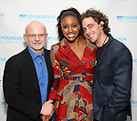 Michael Wilson, Condola Rashad and Sebastian Vallentin Stenhøj attend the SDC Foundation presents The Mr. Abbott Award honoring Kenny Leon at ESPACE on March 27, 2017 in New York City.