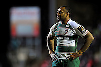Vereniki Goneva of Leicester Tigers looks on during a break in play. European Rugby Champions Cup match, between Leicester Tigers and Munster Rugby on December 20, 2015 at Welford Road in Leicester, England. Photo by: Patrick Khachfe / JMP
