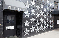 Wall of musicians stars at First Avenue Nightclub 7th St Entry. Minneapolis Minnesota MN USA