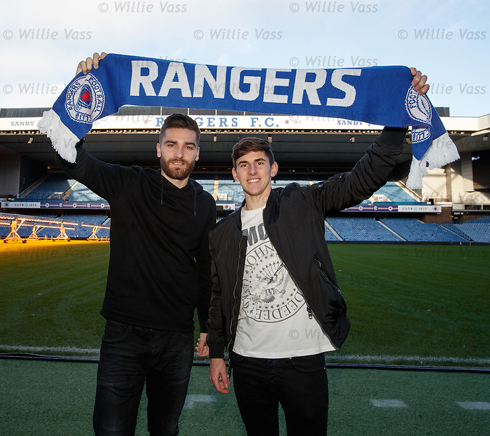 Jon Toral and Emerson Hyndman at Ibrox Stadium