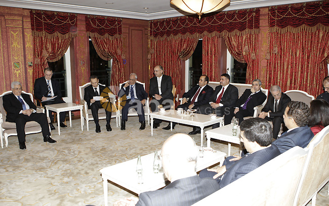 Palestinian President Mahmoud Abbas (Abu Mazen) during a meeting of Arab Ambassadors in Berlin on Jan 31,2010. Photo by Thaer Ganaim