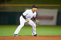 Scottsdale Scorpions Gleyber Torres (17), of the New York Yankees organization, during a game against the Salt River Rafters on October 12, 2016 at Scottsdale Stadium in Scottsdale, Arizona.  Salt River defeated Scottsdale 6-4.  (Mike Janes/Four Seam Images)