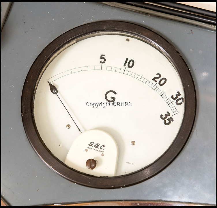 BNPS.co.uk (01202 558833)<br /> Pic: PhilYeomans/BNPS<br /> <br /> The control room G-meter.<br /> <br /> Sci-fi 'Centrifuge' to open its doors to the public after 64 years...<br /> <br /> A remarkable Cold War relic which has put thousands of pilots through their G-force paces has made its final spin after six decades. <br /> <br /> The Top Secret building at the former RAE Farnborough test site is now open to the public for guided tours led by the scientists from FAST who used to work there.<br /> <br /> The Farnborough Centrifuge was used to simulate huge 9G forces - nine times more than a human body is designed to absorb - they would encounter while flying fast jets during combat operations.<br /> <br /> The pilot would sit in a small compartment replicating a cockpit at the end of the 60ft rotating arm and be propelled at over 60mph, spinning 30 times a minute.<br /> <br /> A staggering 122,133 tests were performed on it before it was decommissioned in March this year, with a new centrifuge installed at RAF Cranwell.<br /> <br /> It featured on an episode of Top Gear in 2000 when Jeremy Clarkson had a go on it at 3G, leaving him in obvious discomfort. He described the force exerted on him as like 'having an elephant sat on my chest'.<br /> <br /> The centrifuge, which is being displayed for the public for the first time, also appeared in the 1985 comedy film Spies Like Us starring Chevy Chase and Dan Ackroyd.