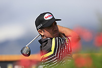 Scott Hend (AUS) tees off the 18th tee during Thursday's Round 1 of the 2017 Omega European Masters held at Golf Club Crans-Sur-Sierre, Crans Montana, Switzerland. 7th September 2017.<br /> Picture: Eoin Clarke | Golffile<br /> <br /> <br /> All photos usage must carry mandatory copyright credit (&copy; Golffile | Eoin Clarke)
