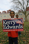 2004 Presidential Election, African American Kids, Columbus Ohio, Kerry Poster,