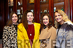 L-R Eilis&Jane Lynch, Mariah Curtin with Labhaoise Walmsley at  a special function for Lorraine Scanlon, last Saturday night in the RiverIsland hotel, Castleisland.