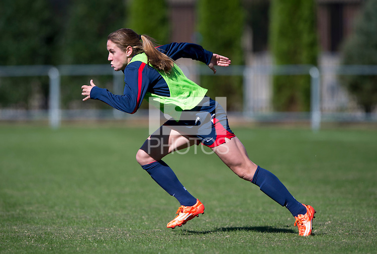 Washington, DC - October 19, 2014: The USWNT prepared for their CONCACAF Women's Championship game at Shaw Field on the campus of Georgetown University.