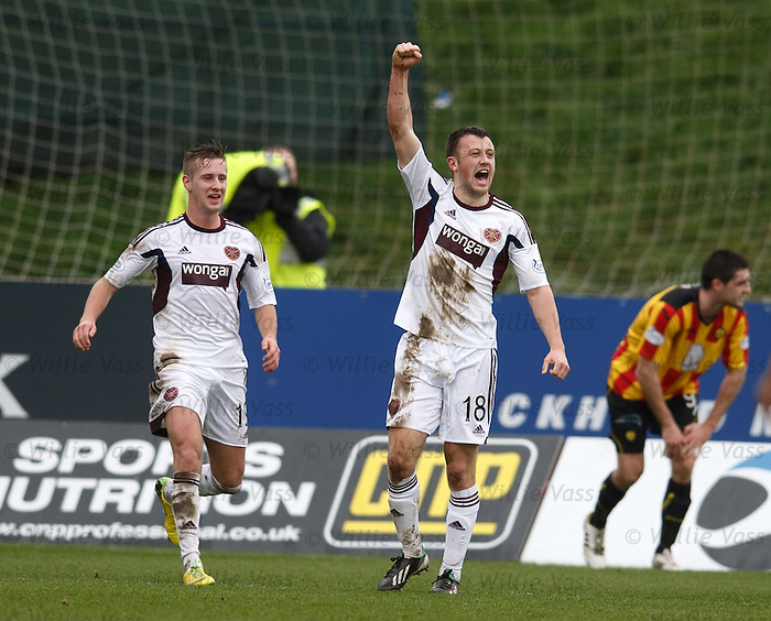 Dale Carrick celebrates his goal for Hearts